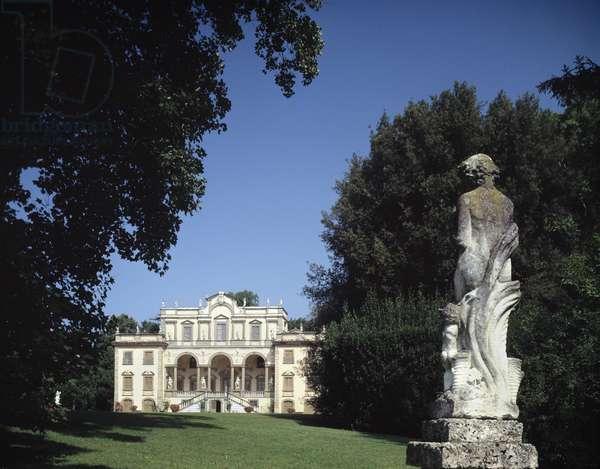 View of Villa Mansi restructured by architect Muzio Oddi di Urbino and its park Filippo Juvarra, 17th century Lucca (Lucca) Italy
