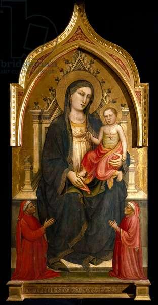 Virgin with child Painting by Mariotto di Nardo (1394-1424) 1404 approx. Sun 167,2x92,2 cm Assisi Museo del Tesoro della Basilica di San Francesco. Perkins Collegione