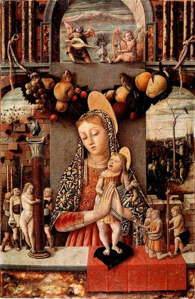 Virgin of Passion Detrempe on wood by Carlo Crivelli (1430/35-1494/1500) 1460 approx. Dim. 71x48 cm Verona, Museo di Castelvecchio