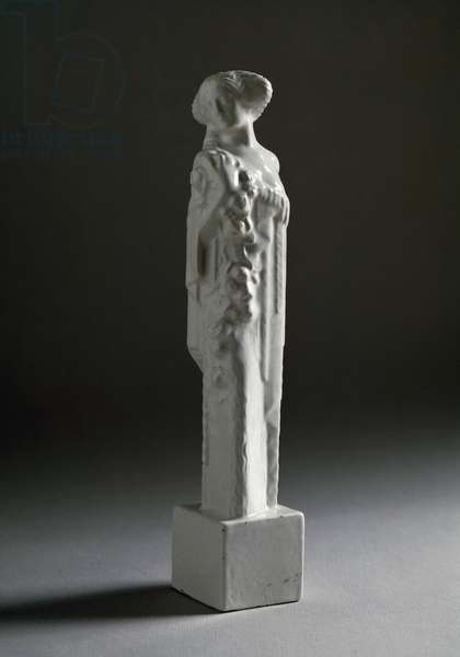 Statuette of woman holding a rose, 1911-1912 (sculpture)