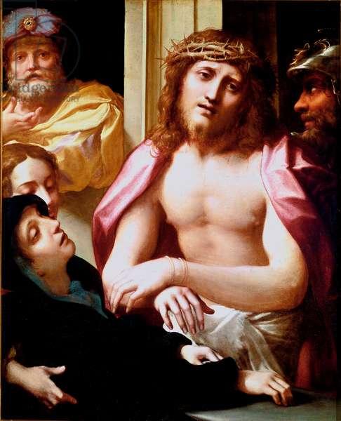 Ecce Homo Painting by Antonio Allegri (known as Correggio or The Correge 1489-1534) 1524-1526 Dim. 99x80 cm London, National gallery