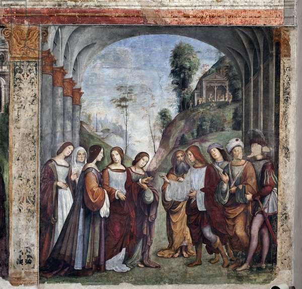 Life of St Cecilia: Wedding of St Cecilia and Valerian (fresco, 1506)