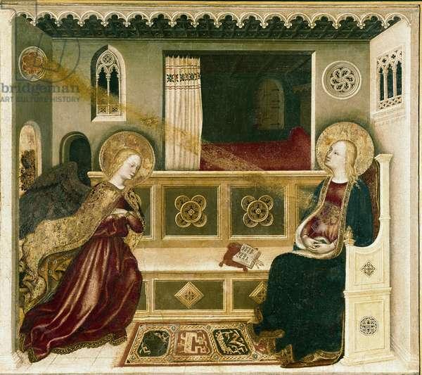 Annunciation (tempera on panel, circa 1425)