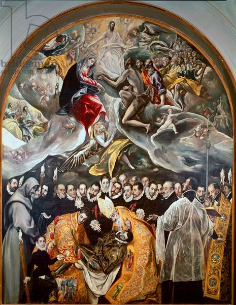 The funeral of the Count of Orgaz Lower detail of the painting of Domenikos Theotokopoulos dit El Greco (1541-1614) - 1586-1588 - Toledo, Church of St. Tome
