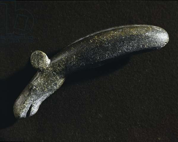 Diorite tool in the shape of a moose. Stone Age.