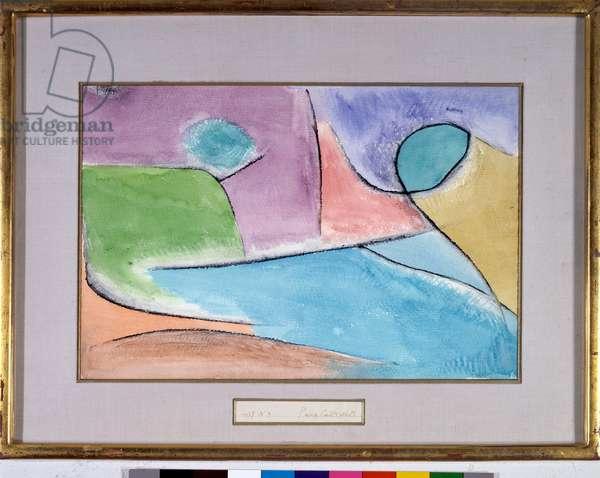 Parkland Shaft Watercolour by Paul Klee (1879-1940) 1937 Dim 30x44 cm Private Collection