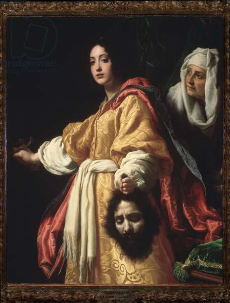 Judith and the Head of Holofernes Painting by Cristofano Allori (1577-1621) 1616 Dim 139x116 cm Florence, Galleria Palatina (Judith with the head of Holofernes)