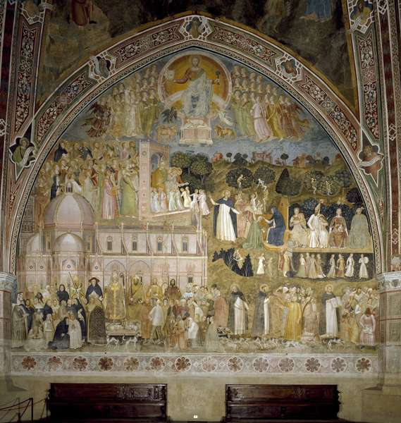 Triumph of the Catholic Church and the Dominican order. Chapel of the Spagniards (Fresco, 1365)