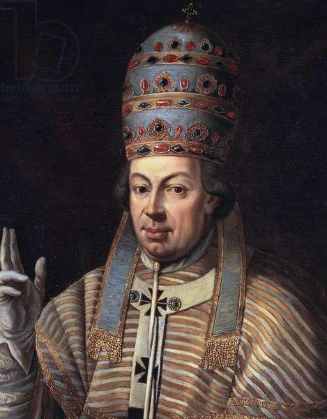 Portrait of Pope Pius VI, detail (oil on canvas, 18th century)