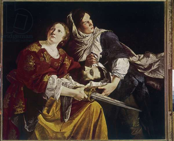 Judith holding the head of Holoferne (Judith and the servant) Painting by Orazio Gentileschi (1563-1639) 1610-1612 Rome Pinacoteca Vaticana