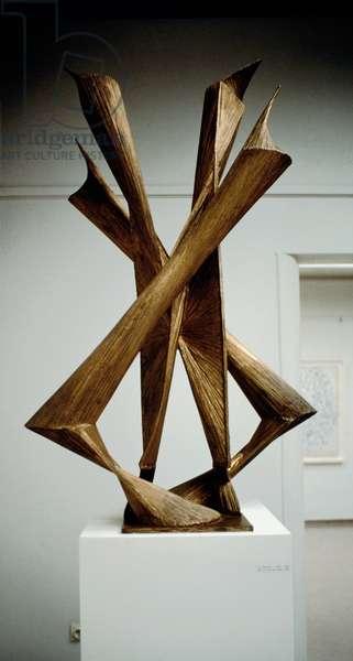 The Column of Peace Bronze sculpture by Anton Pevsner (1886-1962) 1954 Otterloo, Kroller-Muller Rijksmuseum