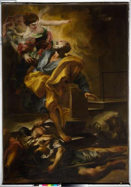 Saint Peter the apostle freed from prison, 17th century