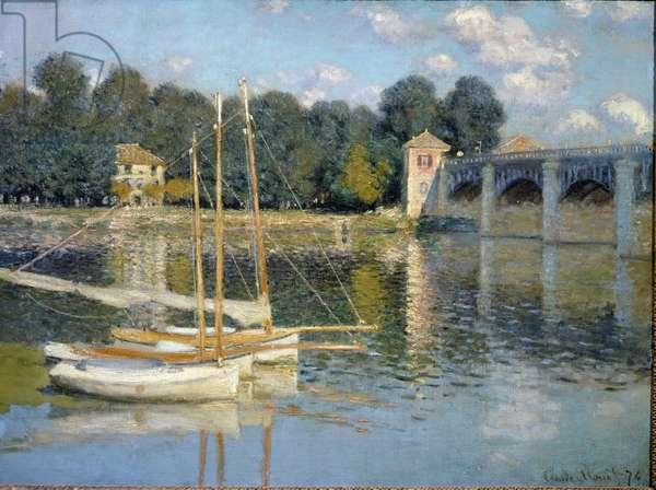The Argenteuil Bridge (Oil on canvas, 1874)