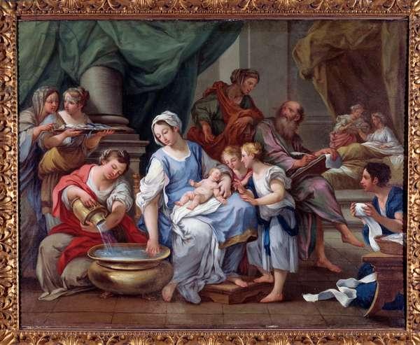 The Birth of St John the Baptist (Birth of St John the Baptist) Painting by Sebastiano Conca (1680-1764) 18th century Museo dell'Abbazia di Montecassino Italy