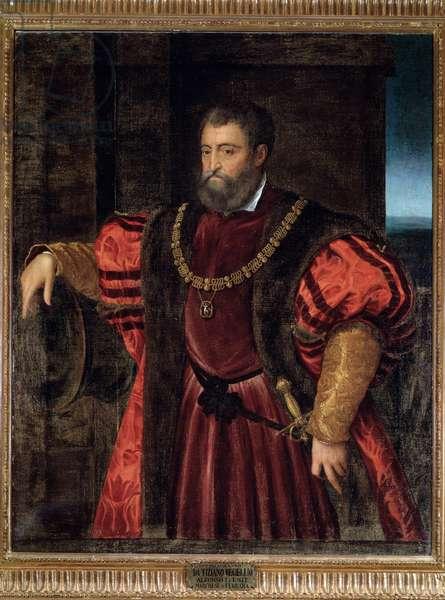Portrait of Alfonso d'Este, duke of Ferrara - oil on panel, 16th century