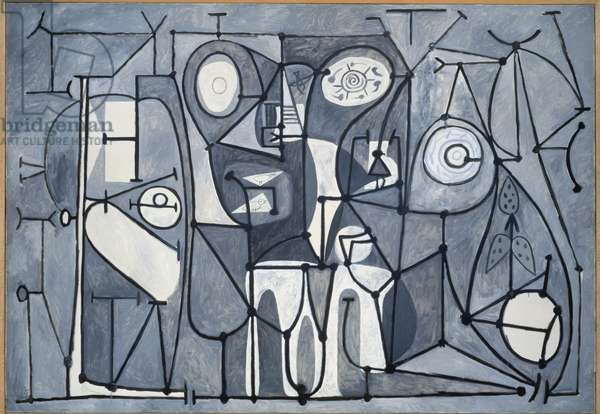 The kitchen - Painting by Pablo Picasso (1881-1973), oil on canvas, 175x252 cm, 1948. Paris, Musee Picasso