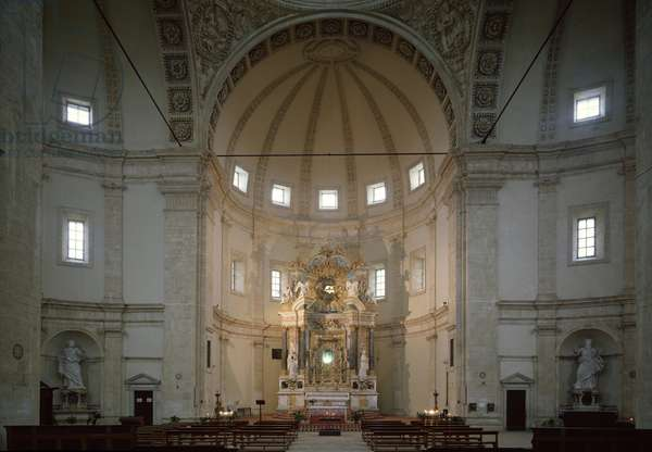 Interior view of the church, 16th century