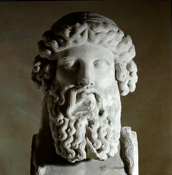 Bust of the Greek philosopher Plato (428-348 BC) Marble sculpture, Rome, musei capitolini