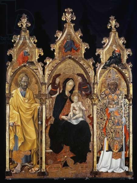 Triptych of Saint Nicholas (San Niccolo) - tempera on panel, 15th century