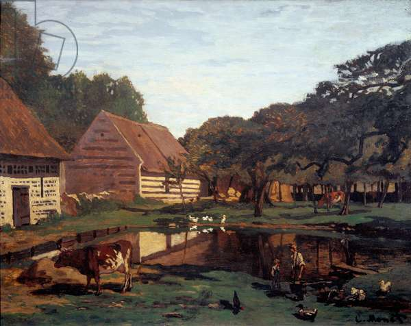 Farm yard in Normandy (Painting, c.1863)