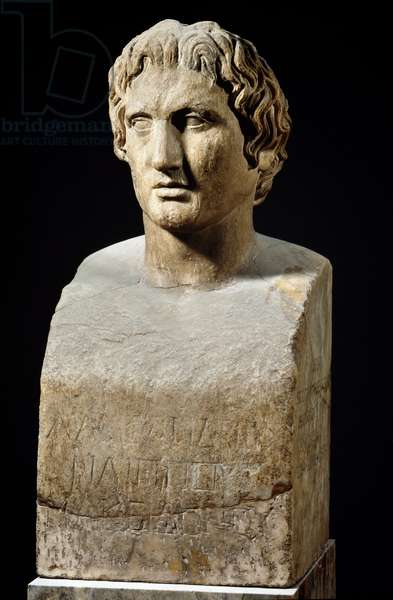 Bust of Alexander the Great, called the Azara Hermes (sculpture,, mid 4th century BC)