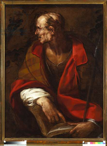 Representation of the apostle Saint Thomas (The apostle st Thomas) Painting by Giulio Cesare Procaccini (1574-1625), 17th century Genes, Musei di Strada Nuova