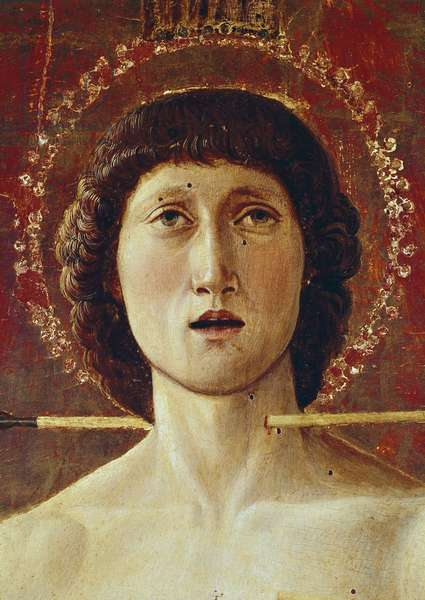 Triptych of St Sebastian. Central panel (tempera on panel, 1460-1464)