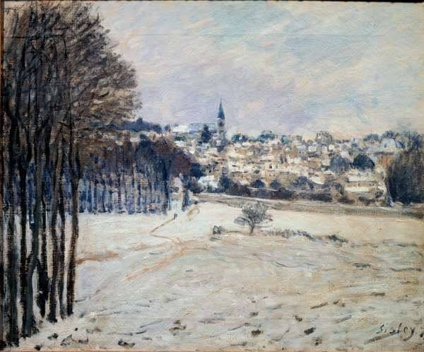 La neige a Marly Painting by Alfred Sisley (1839-1899) 1875 Sun. 0,46x0,56 m Paris, musee d'Orsay