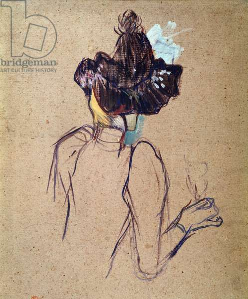 Jane Avril. Painting by Henri de Toulouse Lautrec (1864-1901), 1893. Oil on cardboard. Musee Toulouse Lautrec, Albi