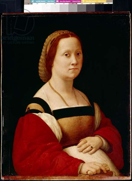 Portrait of a woman or the pregnant woman Painting by Raffaello Sanzio (1483-1520) dit Raphael 1505-1506 Dim 66x52 cm Florence Palazzo Pitti, Galleria Palatina