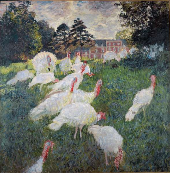 Turkeys, 1877 - Oil on canvas