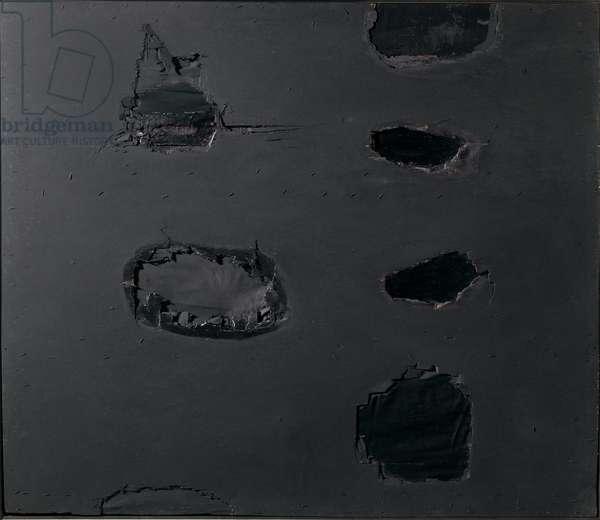 Black wood, 1961 (mixed media)