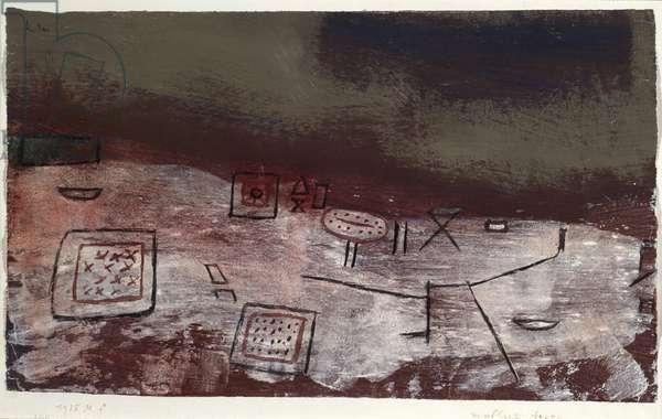 Moeblierte Arktis (Arctic furniture) Tempera on paper by Paul Klee (1879-1940) 1935 Dim. 28x46,5 cm Milan, Civico Museo d'Arte Contemporanea