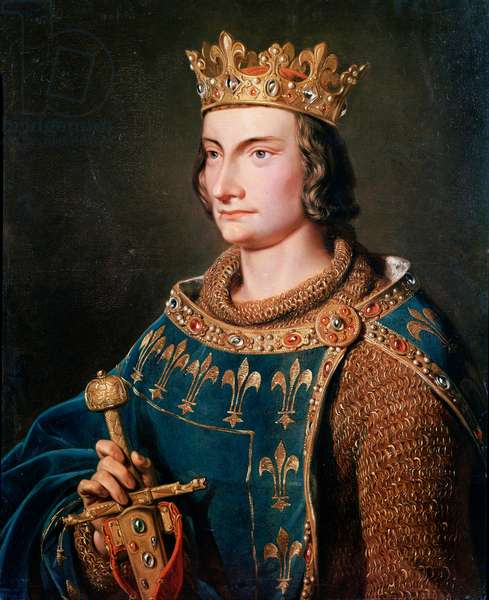 Portrait of Philip IV the Bel (1268 - 1314), King of France. Anonymous painting of the 19th century. Castles of Versailles and Trianon.