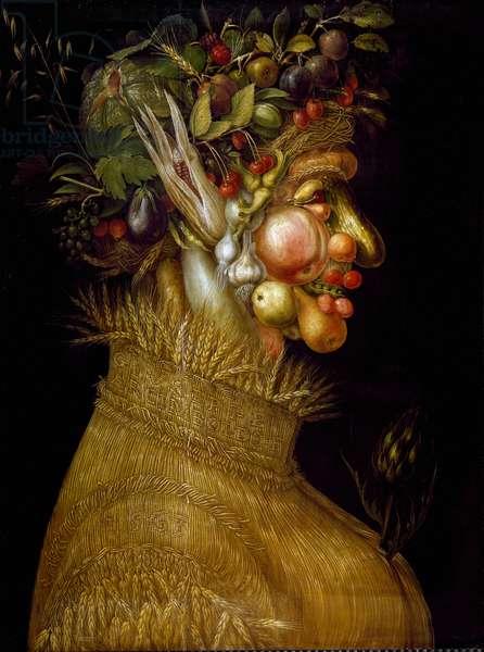 Summer Painting by Giuseppe Arcimboldi (Arcimboldo) (1527-1593) 1563 Dim. 67x51 cm Vienna, Kunsthistorisches Museum