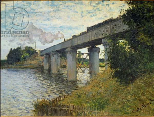 The bridge of the railway at Argenteuil - Painting by Claude Monet (1840-1926), 1873-1874 - Oil On Canvas - Musee d'Orsay