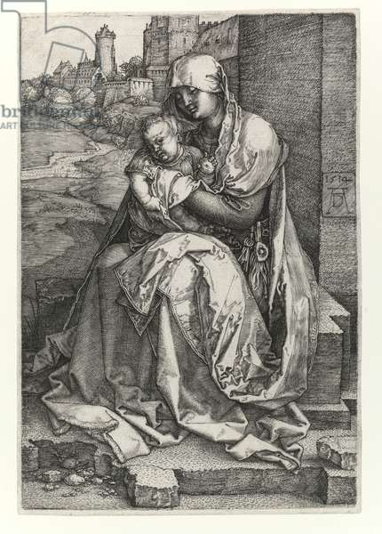 The Madonna of the Wall, 1514 (Burin engraving)