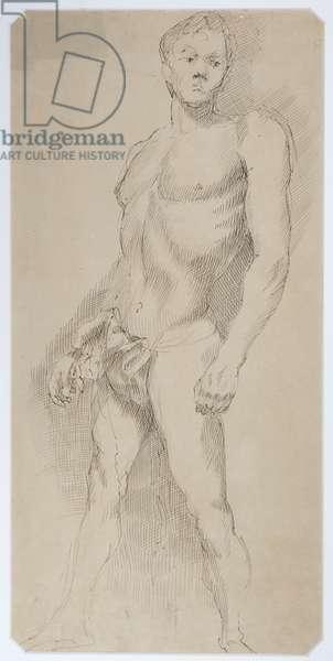 Athlete, 1940 (ink on paper)