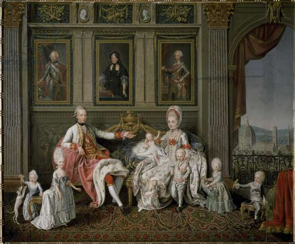 Portrait of Emperor Leopold II of Habsburg-Lorraine with his family, c.1772-1773 (painting)