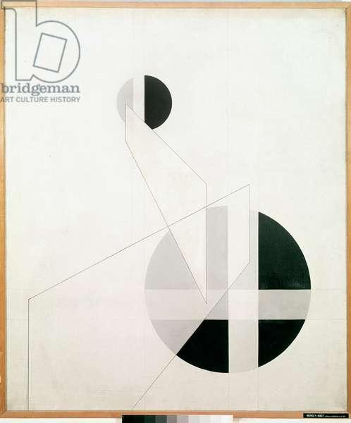 Composition A XX Painting by Laszlo Moholy-Nagy (Moholy Nagy) (1895-1946) (Bauhaus) 1924 Sun 136x115 cm Paris, National Museum of Modern Art