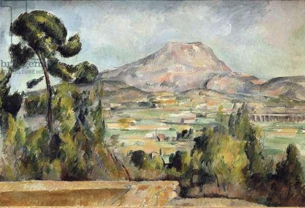 La Montagne Sainte-Victoire (Sainte Victoire), 1890. Painting by Paul Cezanne (1839-1906). Oil on canvas - dim. 62x92cm. Paris, Musee d'Orsay.