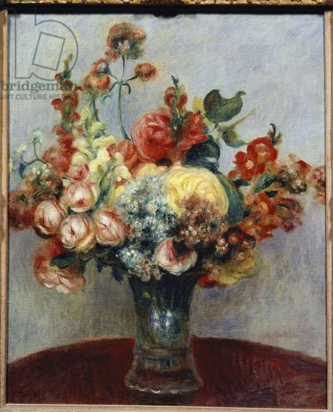 Flowers in a Vase (oil on canvas, 1898)