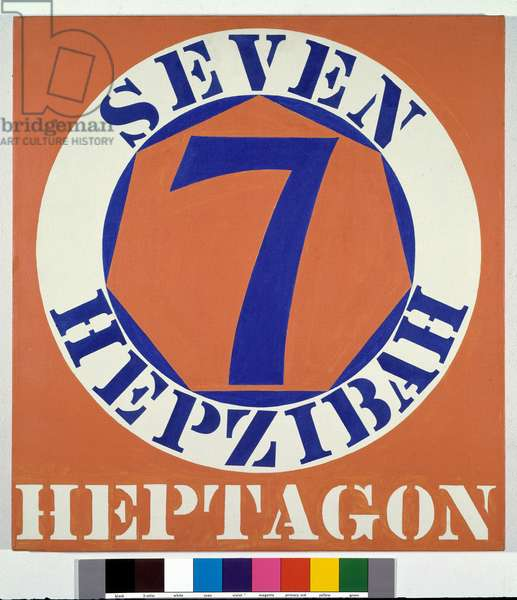Hepzibah - Heptagon 7 Realize by Robert Indiana (not 1928) 1962 Private Collection