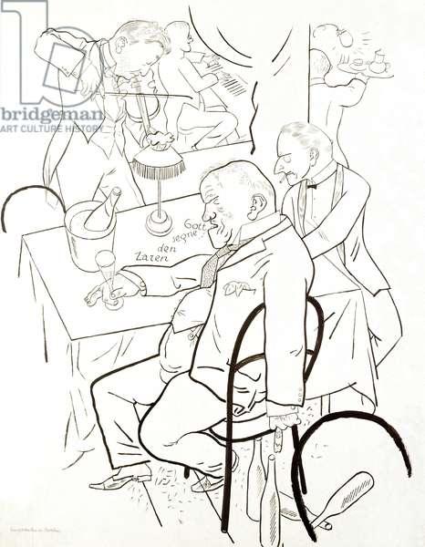 Emigrants in Berlin - Drawing, 20th century