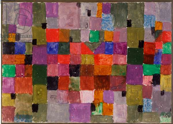 Noerdlicher ort (Place du Nord) Mixed media on cardboard by Paul Klee (1879-1940) Dim. 28,5x37,1 cm Milan, private collection
