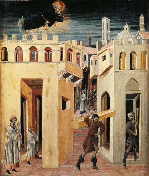 Miracle of Saint Nicholas of Tolentino (Painting on wood, 15th century)