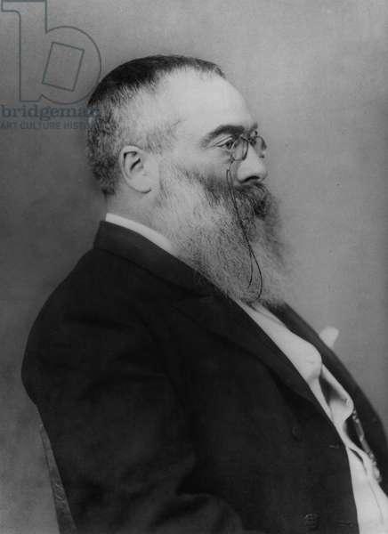 Sir Walter Besant (1836-1901) late 19th century (b/w photo)