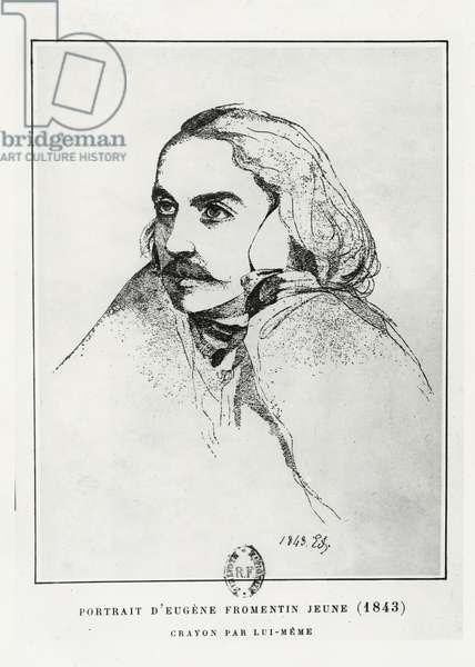 Self portrait, 1843 (litho)