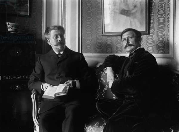 Portraits of Writers Paul and Victor Margueritte (b/w photo)