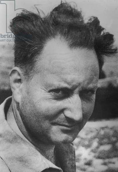 Jean Giono (1895-1970) (b/w photo)
